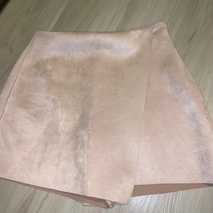 Zara suede envelope skirt